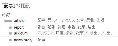 """""""記事""""の翻訳"""